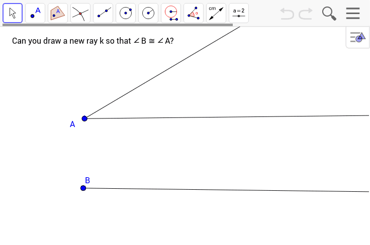 Copying an Angle Press Enter to start activity