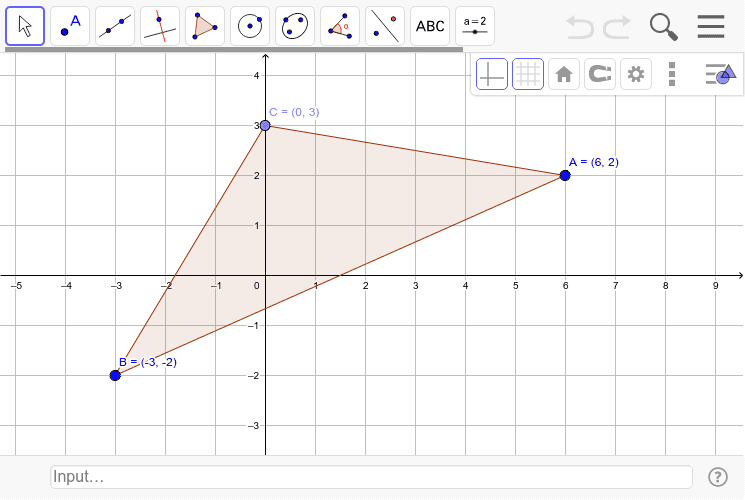 Translate the triangle by the vector <-3,4>. Press Enter to start activity