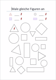 Geometrische Figuren erkennen und sortieren