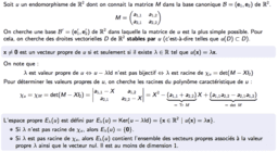 Réduction des endomorphismes de R²