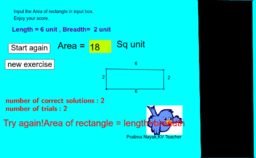 Perimeter of rectangle quiz for primary children