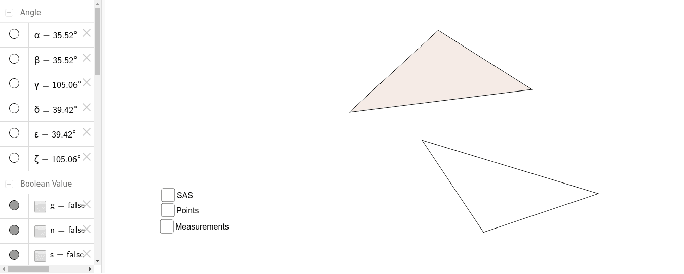If given 2 sides and the adjacent angle to be congruent, is the rest of the triangle congruent?