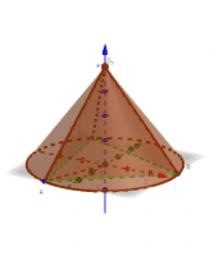 Піраміда вписана в конус