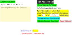 Solve Simple Linear Equations ( Balance Concept)