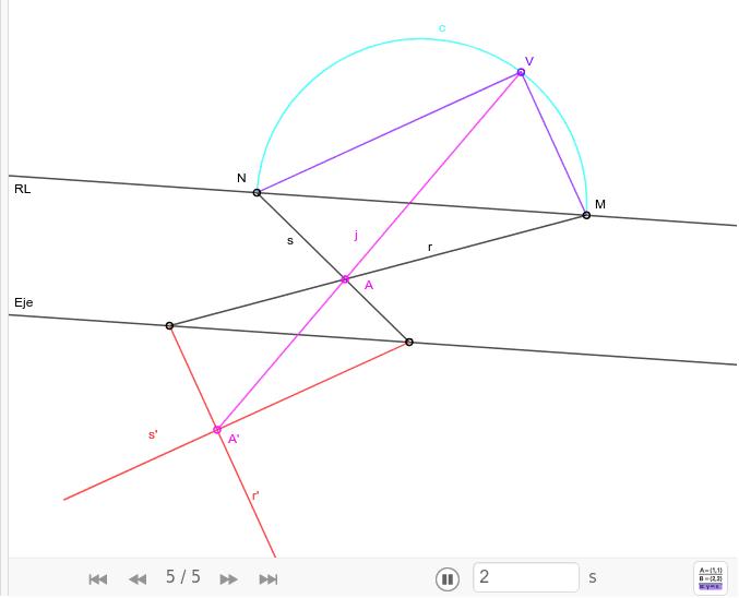 Situar el centro de homología para obtener un ángulo Press Enter to start activity