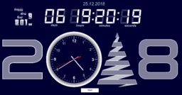 Clock. Coundown to the New 2019 Year.