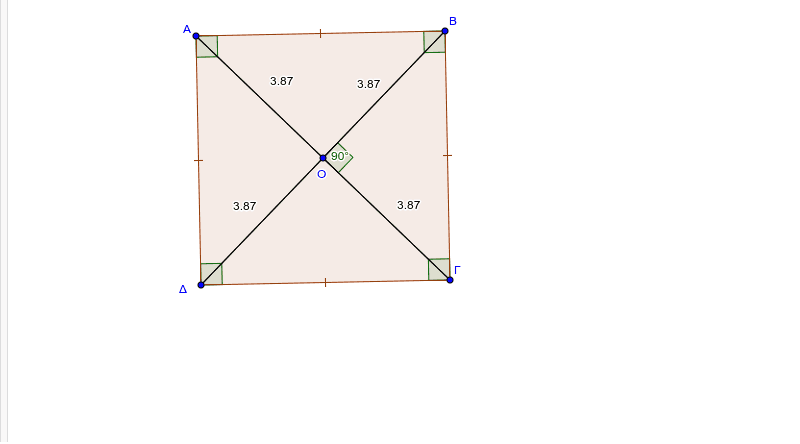 Πιο κάτω δίνεται ένα τετράγωνο. Μετακινήστε την κορυφή για να ανακαλύψετε τις ιδιότητες του τετραγώνου. Press Enter to start activity