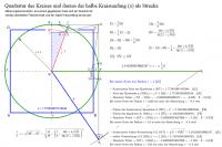 Quadratur des Kreises und der halbe Kreisumfang (π)
