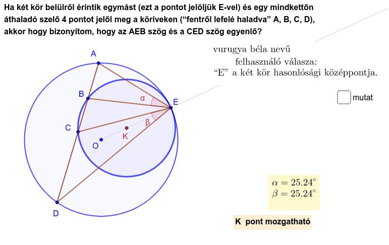 A  és  D  pont is mozgatható !