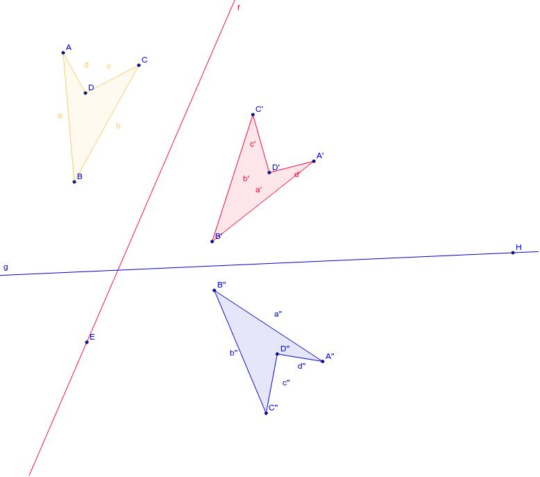 """Composition de symétries axiales Tapez """"Entrée"""" pour démarrer l'activité"""