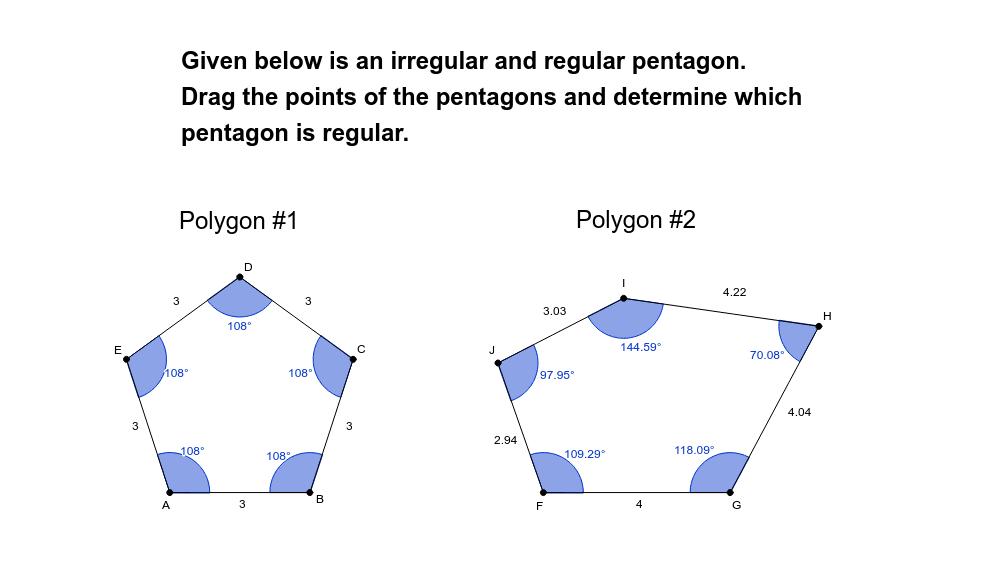 Regular and Irregular Polygons