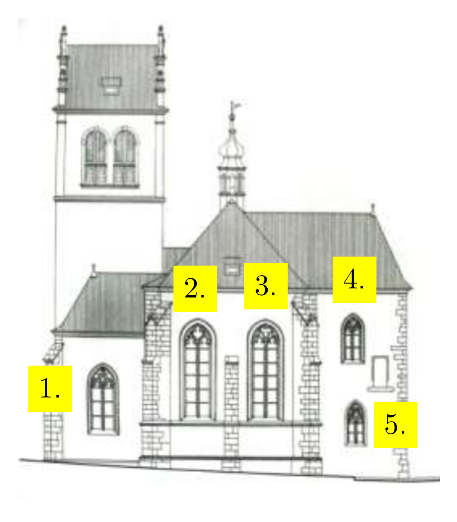 Kostel sv. Martina ve zdi - východ