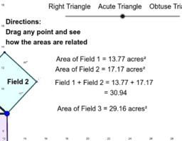 Pythagorean Theorem - Right vs Acute vs Obtuse Triangles
