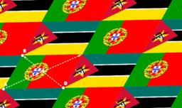Bandeiras de Portugal e de Moçambique
