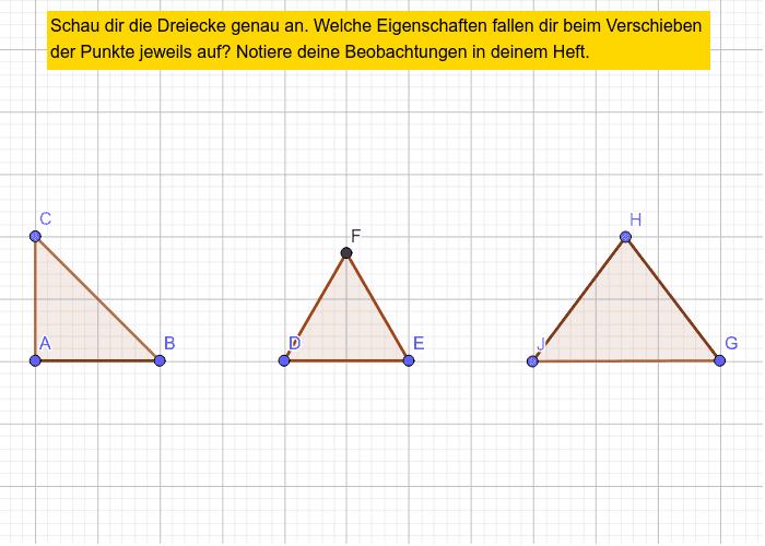 Dreiecke entdecken Drücke die Eingabetaste um die Aktivität zu starten