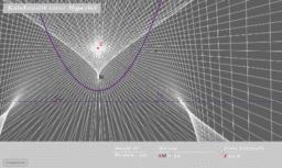 Katakaustik einer Hyperbel