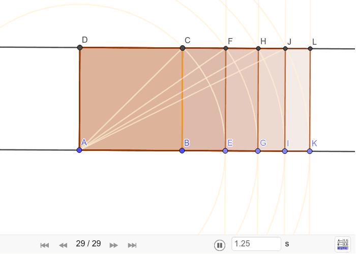 Konstrukcija dijagona, sikstona, dubla i pravokutnika √5 Pritisnite Enter kako bi započeli aktivnost
