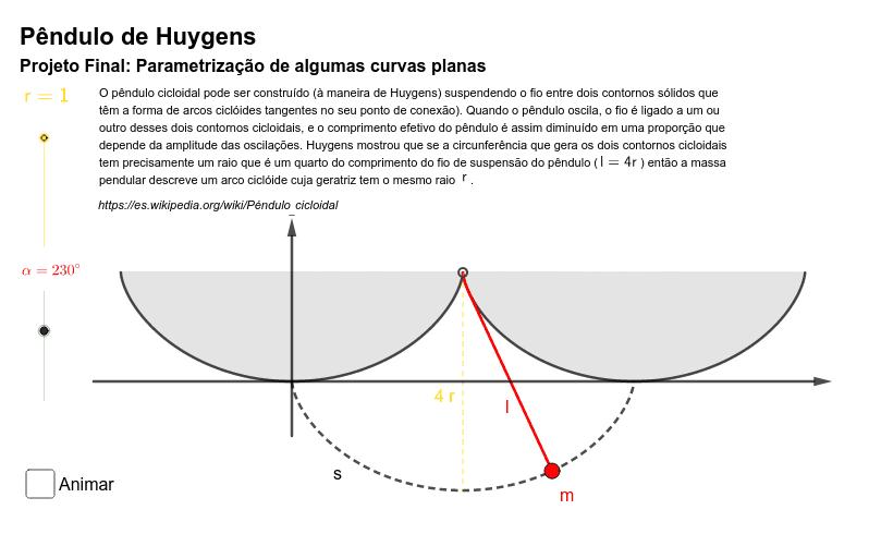 Projeto Final: Parametrização de algumas curvas planas