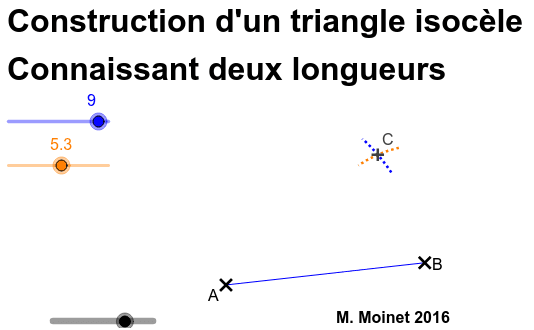 Triangle Isocèle - Construction - 2 longueurs