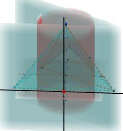 円柱の外の四面体の体積