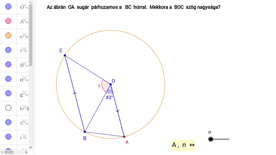 Forrás:  https://www.mathspad.co.uk/teach/circleTheorems.php Press Enter to start activity