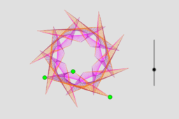 Curve Stitched Triangles with Rotations