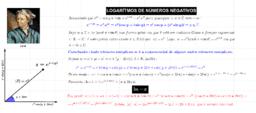 Logaritmo de números negativos