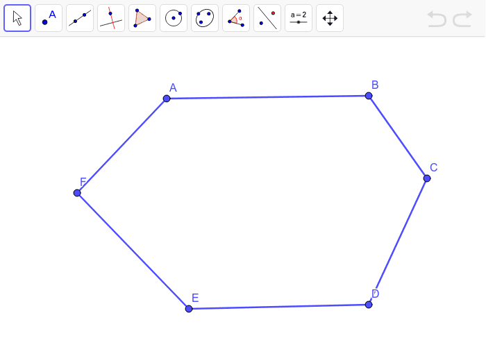 Create all the diagonals that come from point A. Press Enter to start activity
