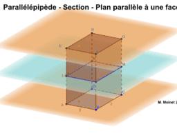 Parallélépipède - Section Plan Parallèle à une Face