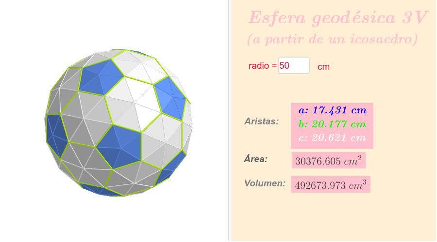 Esfera geodésica 3V a partir de un icosaedro Presiona Intro para comenzar la actividad