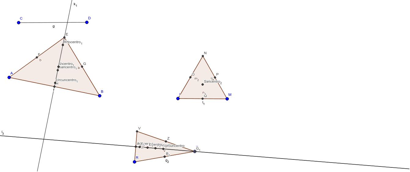 baricentro, incentro, circuncentro y ortocentro de los triangulos ...