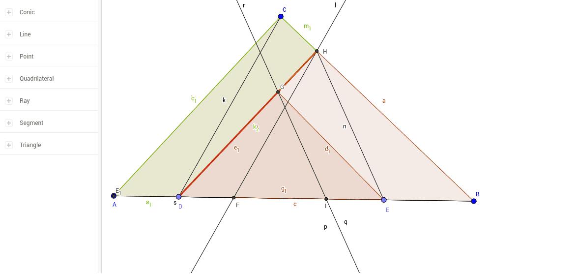Приложение на геометричното място на точките, които са върхове на равнолицеви триъгълници с основа – дадена отсечка.