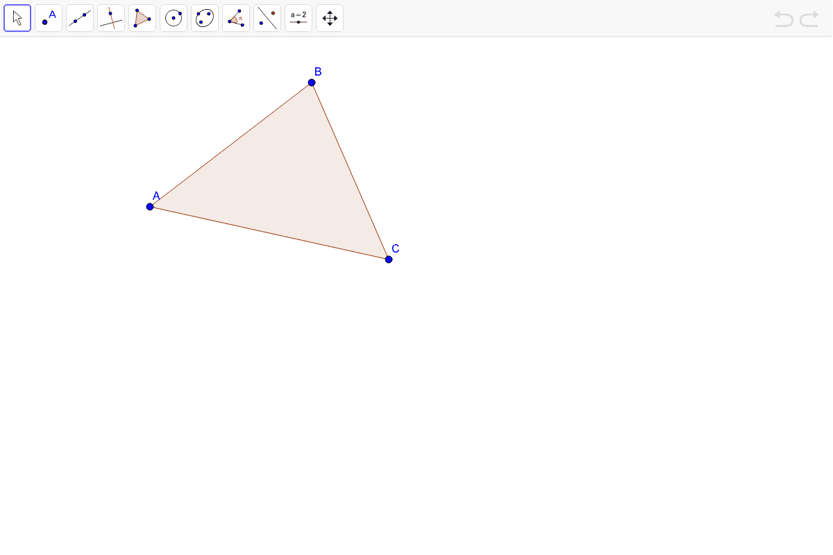 Construct all of the angle bisectors in the triangle below.