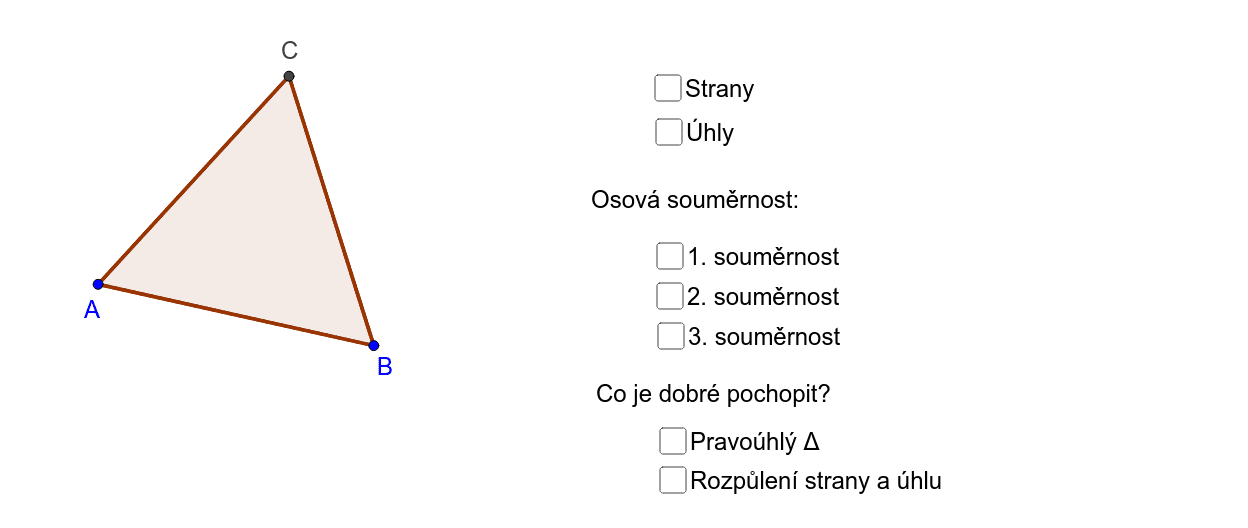 Rovnostranný trojúhelník - vlastnosti Zahajte aktivitu stisknutím klávesy Enter