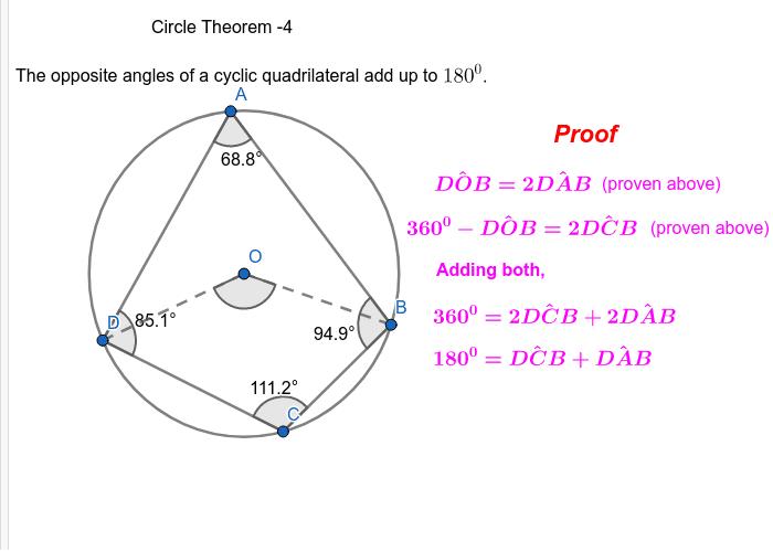 Circle theorems Press Enter to start activity