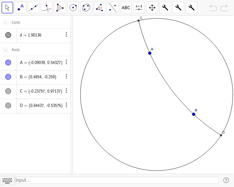 GeoGebra Lab #4: Non-Euclidean Geometry – GeoGebra