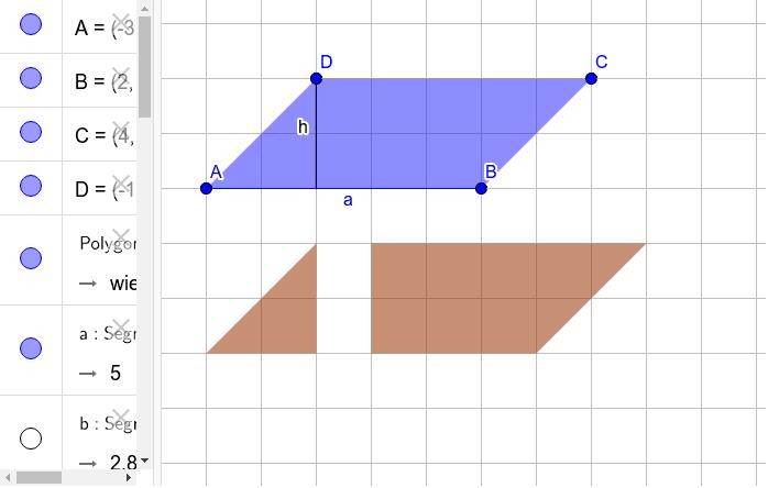 Jak policzyć pole równoległoboku mając jeden z jego boków i wysokość padającą na ten bok?