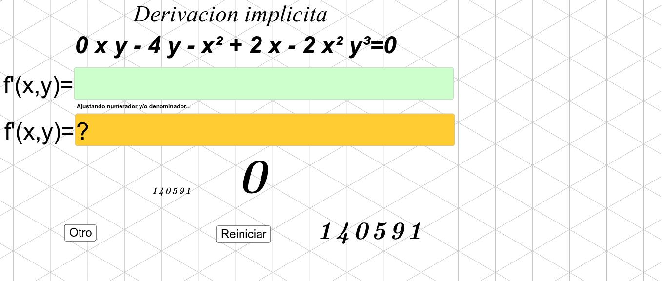 ejercita la derivación implícita Presiona Intro para comenzar la actividad