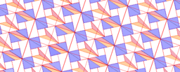 Pythagorean Theorem by Tessellation # 45 Tiling