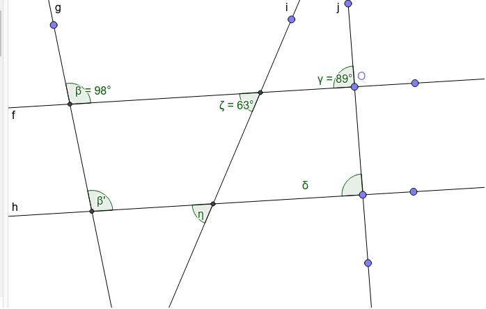 Aufgabe 6: Bestimme die Winkelgrößen ohne Hilfe von einem Gedreieck oder Geogebra  Press Enter to start activity