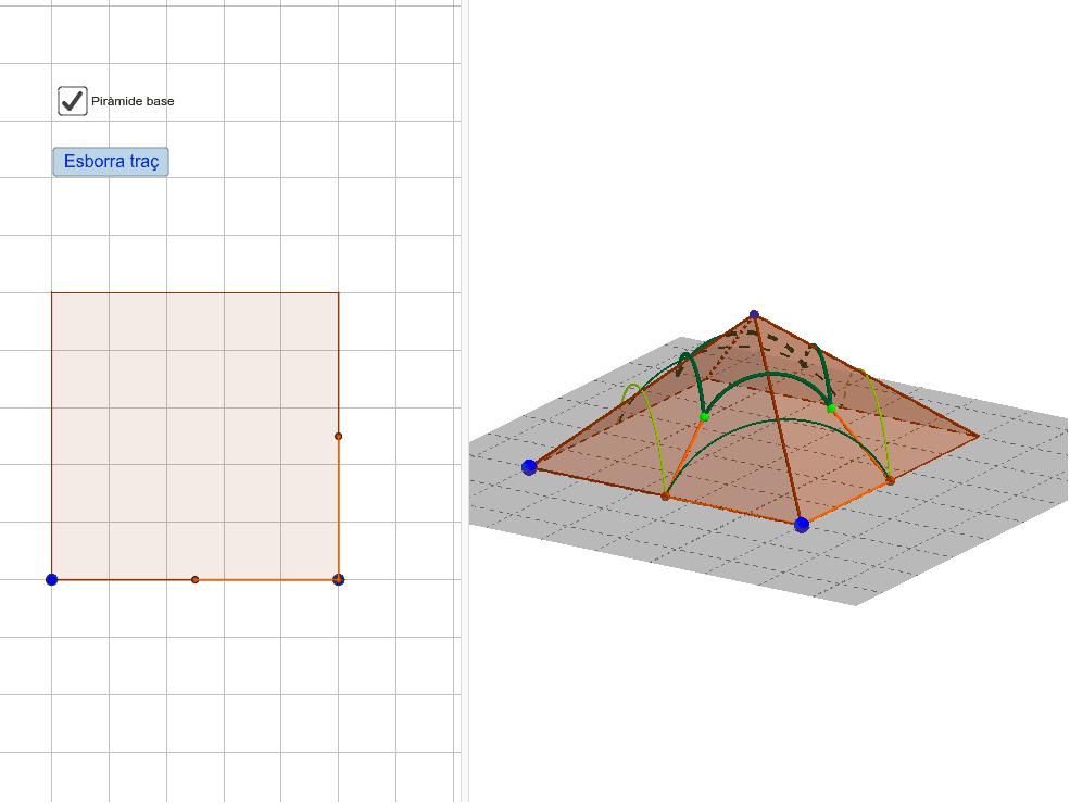 Moveu els punts de colors per veure el procés de construcció o cliqueu al reproductor
