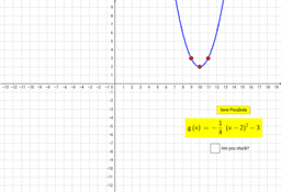 Graphing Parabolas Self-Check