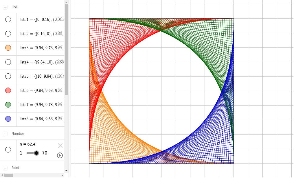 Retas que fazem curvas Press Enter to start activity