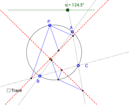 Simsons trace circles