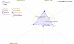 Droites et cercles remarquables dans un triangle