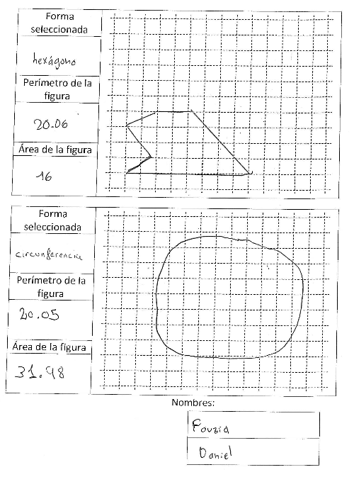 Ordenagailua - hexagonoa and zirkunferentzia