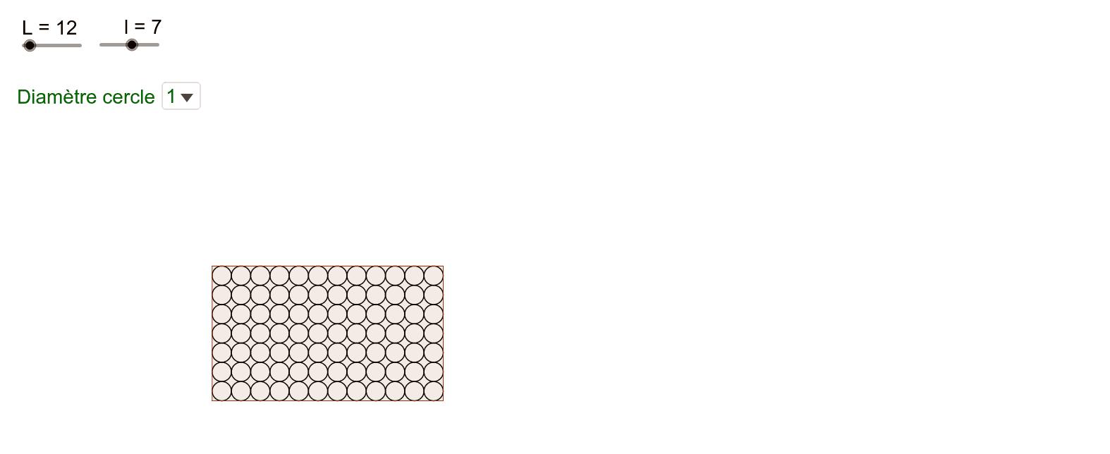 Pavage d'un rectangle avec des cercles