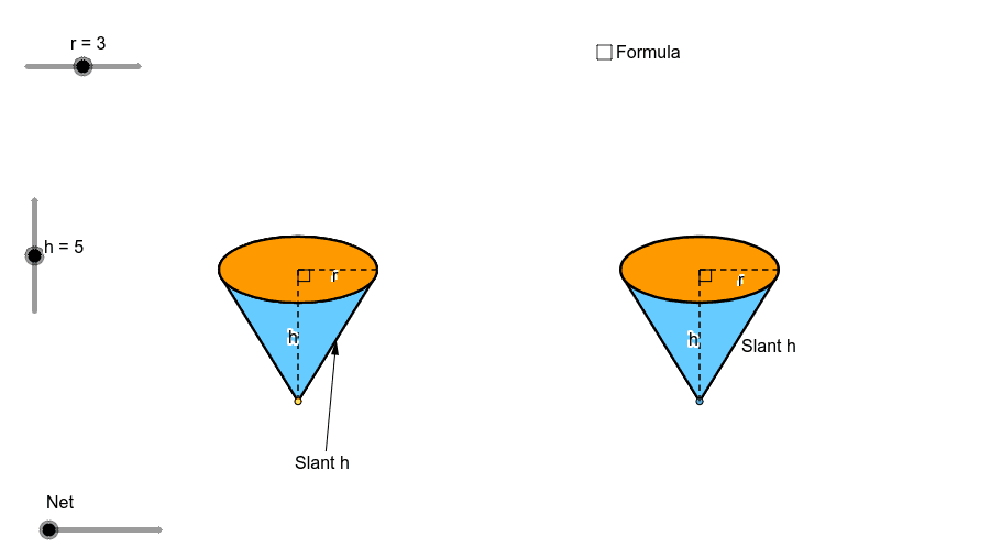 Here is a cone: Press Enter to start activity
