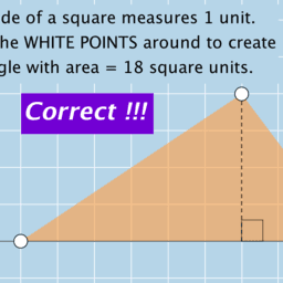 Create a Triangle with Given Area: Quick Formative Assessment