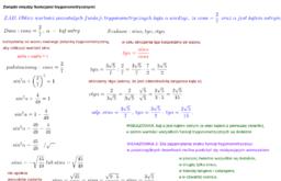 Związki między funkcjami trygonometrycznymi